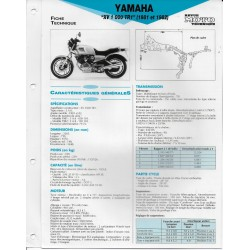 YAMAHA XV 1000 TR1 (1981 / 1982) type 5A8 (Fiche RMT)