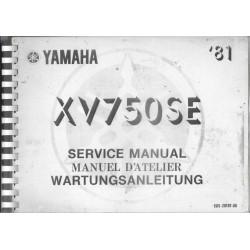 YAMAHA XV 750 SE (manuel atelier 02 / 1981) type 5G5