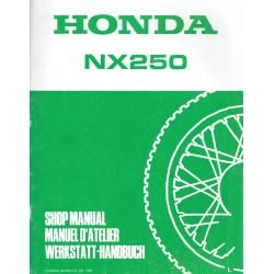 HONDA NX 250 R(additif jdécembre 1989)