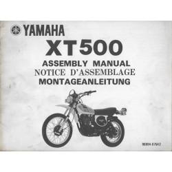 YAMAHA XT 500 1976 (Notice d'assemblage 02 / 76)