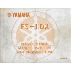 Manuel atelier YAMAHA FS-1 (DX) de 1977 type 1Y0