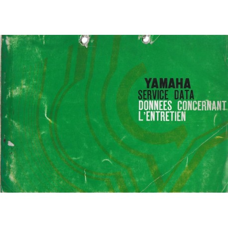 YAMAHA Data Service motos 1969 / 1970