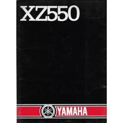 Dossier de Presse YAMAHA XZ 550 (1982)