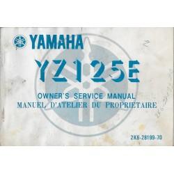 YAMAHA YZ125 E type 2K6 modèle 1978