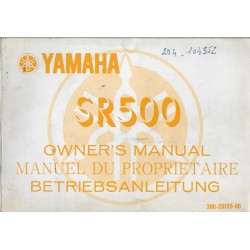 YAMAHA SR 500 de 1979 type 3H0