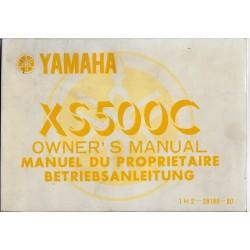 YAMAHA XS 500 (C) de 1976 type 1H2