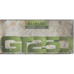 SUZUKI GT 250 (manuel utilisateur en anglais 03 / 1976)