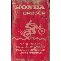 HONDA CR 250 R de 1982 (manuel utilisateur 10 / 1981)