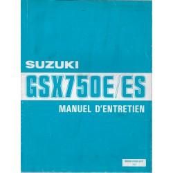 Manuel atelier SUZUKI GSX 750 E / ES (10 / 1990)