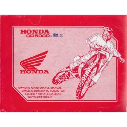 HONDA CR 500 RN 1992 (manuel de base) Type ML3 (07/91)