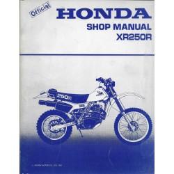 HONDA XR 250 R 1982 (manuel de base en anglais) 12 / 1981