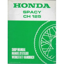 HONDA SPACY CH 125 de 1988 (Manuel de base 01 / 1988)