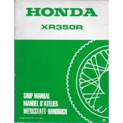 HONDA XR 350 RG de 1986 (manuel atelier additif décembre 1985)