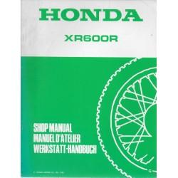 HONDA XR 600 RG de 1986 (Additif décembre 1985)