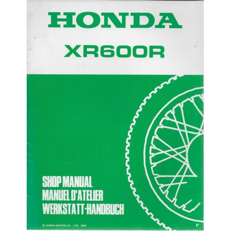 HONDA XR 600 RP de 1993 (additif août 1992)