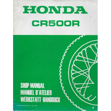 HONDA CR 500 R 1988 (Additif septembre 1987) Type KA5