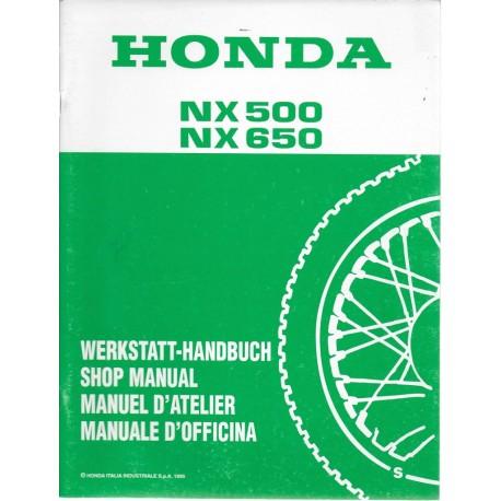 HONDA NX 500 S / NX 650 S de 1995 (03 / 1995)