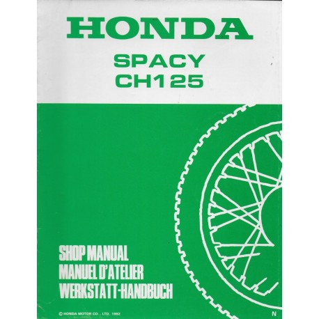 HONDA SPACY CH 125 N de 1993 (additif 07 / 1992)