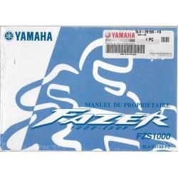 YAMAHA Fazer FZS 1000 type 5LV de 2001 (12 / 2000)