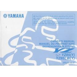 YAMAHA YZ 85 (Y) et 85 LW (Y) 2009 Type 5PA (06 / 2008)