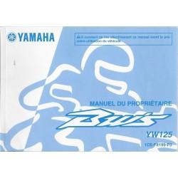 YAMAHA BW'S YW 125 Type 1CE de 2010 (02 / 2010)
