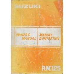 Manuel atelier SUZUKI RM 125 de 1983 (08 / 1982)
