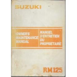 Manuel atelier SUZUKI RM 125 de 1984 (12 / 1983)