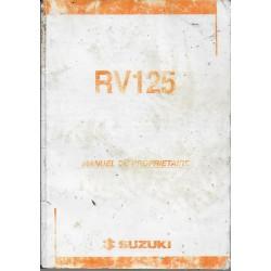 SUZUKI RV 125 K4 de 2004 (manuel utilisateur 08 / 2003)