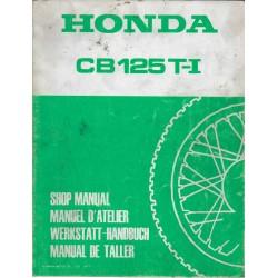 HONDA CB 125 T-1 de 1977 (Manuel atelier 06 / 1977)