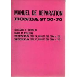 HONDA ST 50 / ST 70 (Manuel atelier additif 04 / 1970)