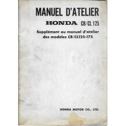 HONDA CB 125 / CL 125 - 175 (Manuel atelier 06 / 1969)