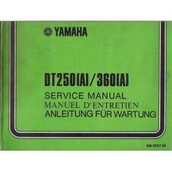 YAMAHA DT 250 (A) / DT 400 (A) (manuel atelier 11 / 1973)