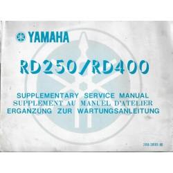 YAMAHA RD 250 (C) / RD 400 (C) (manuel atelier 02 / 1976)