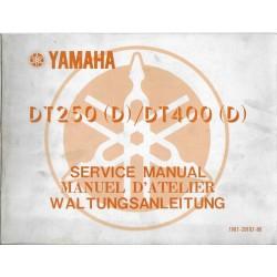 YAMAHA DT 250 (D) / DT 400 (D) (manuel atelier 10 / 1976)