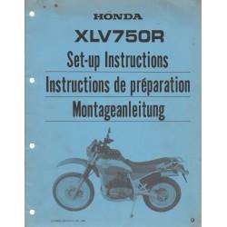 HONDA XLV 750 RD de 1984 (Manuel de montage février 1980)