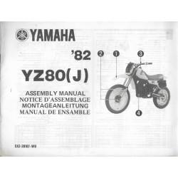 YAMAHA YZ 80 (J) 1982 (assemblage 09 / 1981) type 5X2