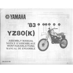 YAMAHA YZ 80 (K) 1983 (assemblage 09 / 1982) type 22W