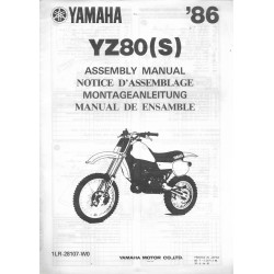 YAMAHA YZ 80 (S) 1986 (assemblage 07 / 1985) type 1LR