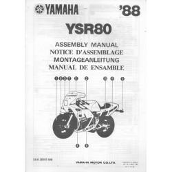 YAMAHA YS 80 1988 (assemblage 12 / 1987) type 3AX