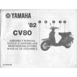 YAMAHA CV 80 1982 (assemblage 12 / 1981) type 13Y