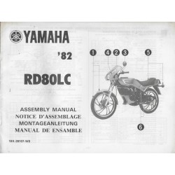 YAMAHA RD 80 LC 1982 (assemblage 12 / 1981) type 10X