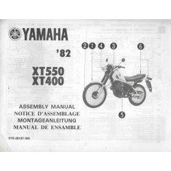 YAMAHA XT 400 / 550 1982 (assemblage 02 / 1982) type 5Y6