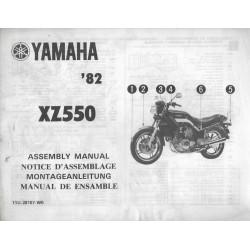 YAMAHA XZ 550 1982 (assemblage 01 / 1982) type 11U