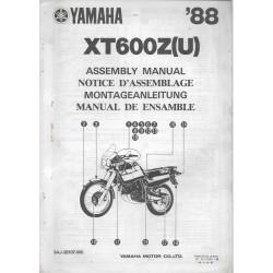 YAMAHA XT 600 Z (U) 1988 (assemblage 12 / 1987) type 3AJ