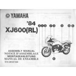 YAMAHA XJ 600 (RL) 1984 (assemblage 01 / 1984) type 51H