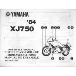 YAMAHA XJ 750 1984 (assemblage 06 / 1984) type 41Y