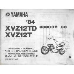 YAMAHA XVZ 12 TD 1984 (assemblage 10 / 1983) type 47G