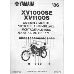 YAMAHA XV 1000 / 1100 1986 (assemblage 03 / 86) type 2AE