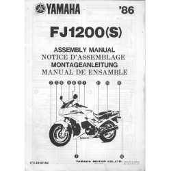 YAMAHA FJ 1200 (S) 1986 (assemblage 12 / 1985) type 1TX