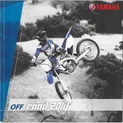 Catalogue gamme YAMAHA OFF ROAD de 2014